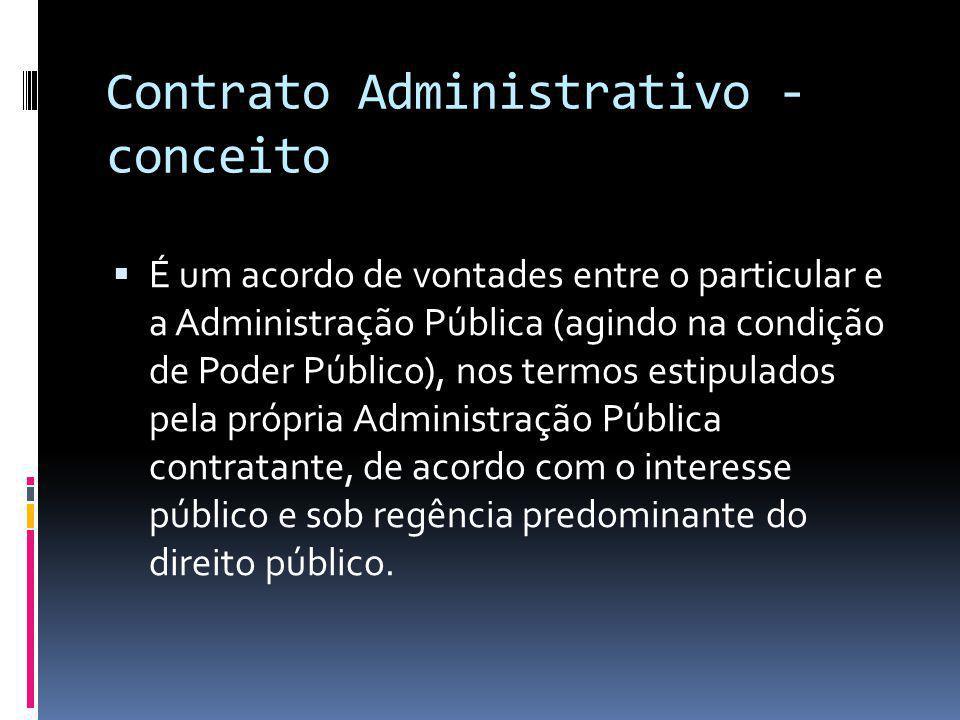 Contrato Administrativo - conceito