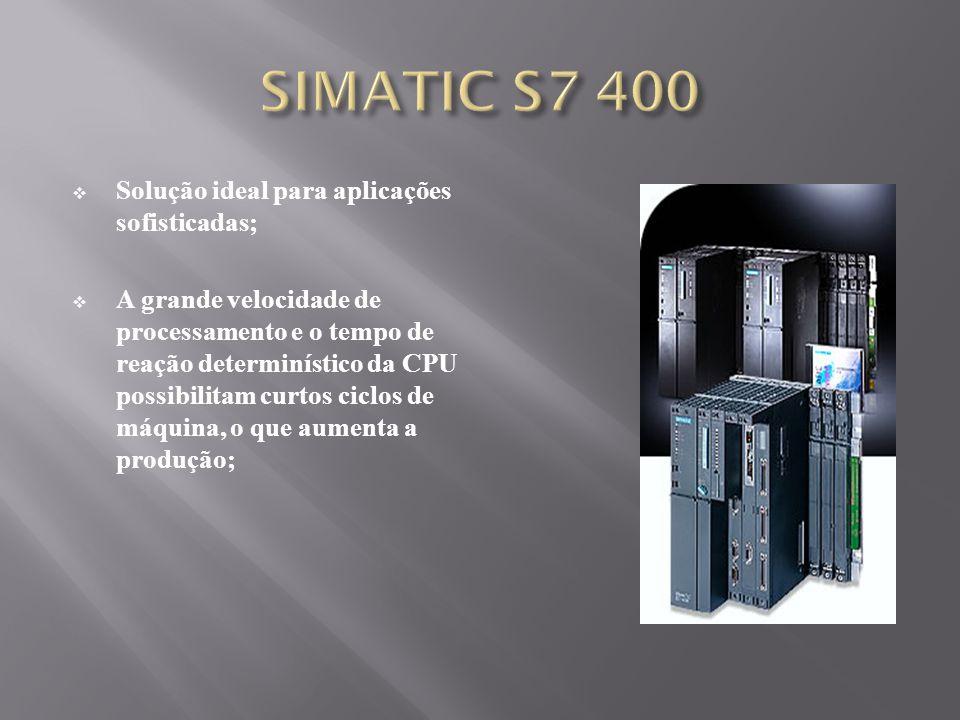 SIMATIC S7 400 Solução ideal para aplicações sofisticadas;