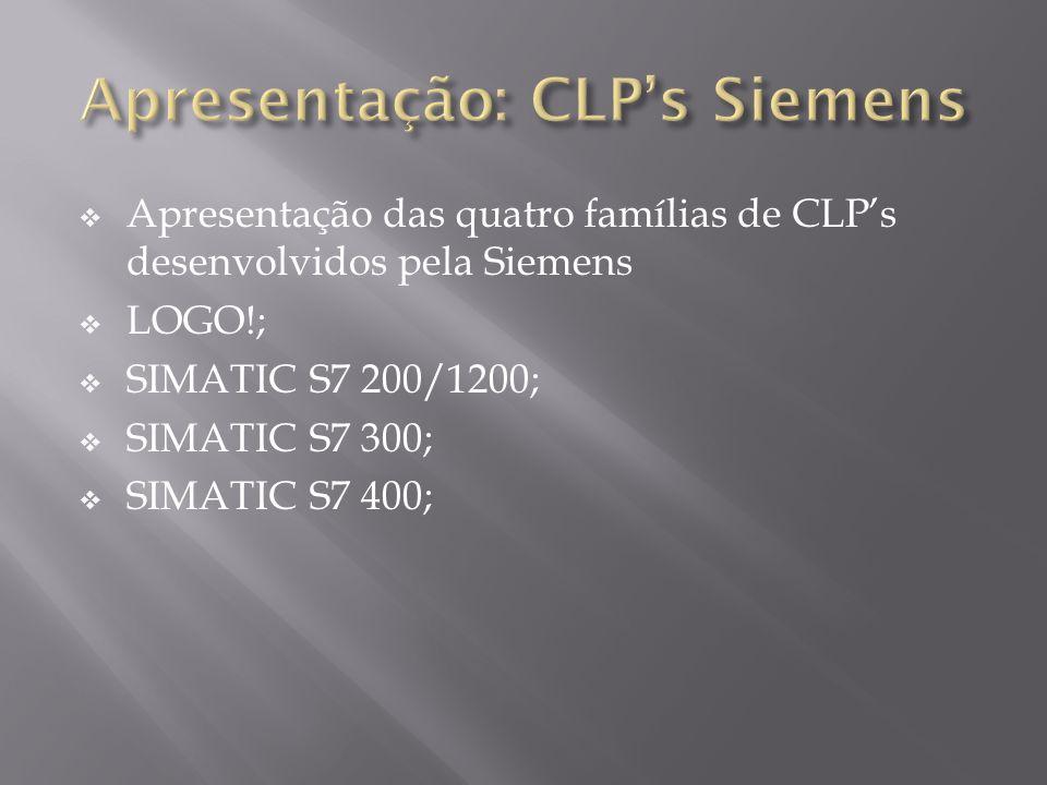 Apresentação: CLP's Siemens