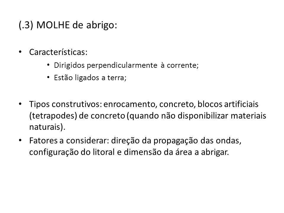 (.3) MOLHE de abrigo: Características: