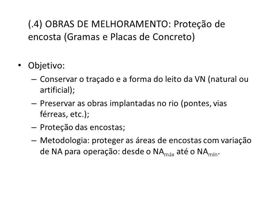 (.4) OBRAS DE MELHORAMENTO: Proteção de encosta (Gramas e Placas de Concreto)