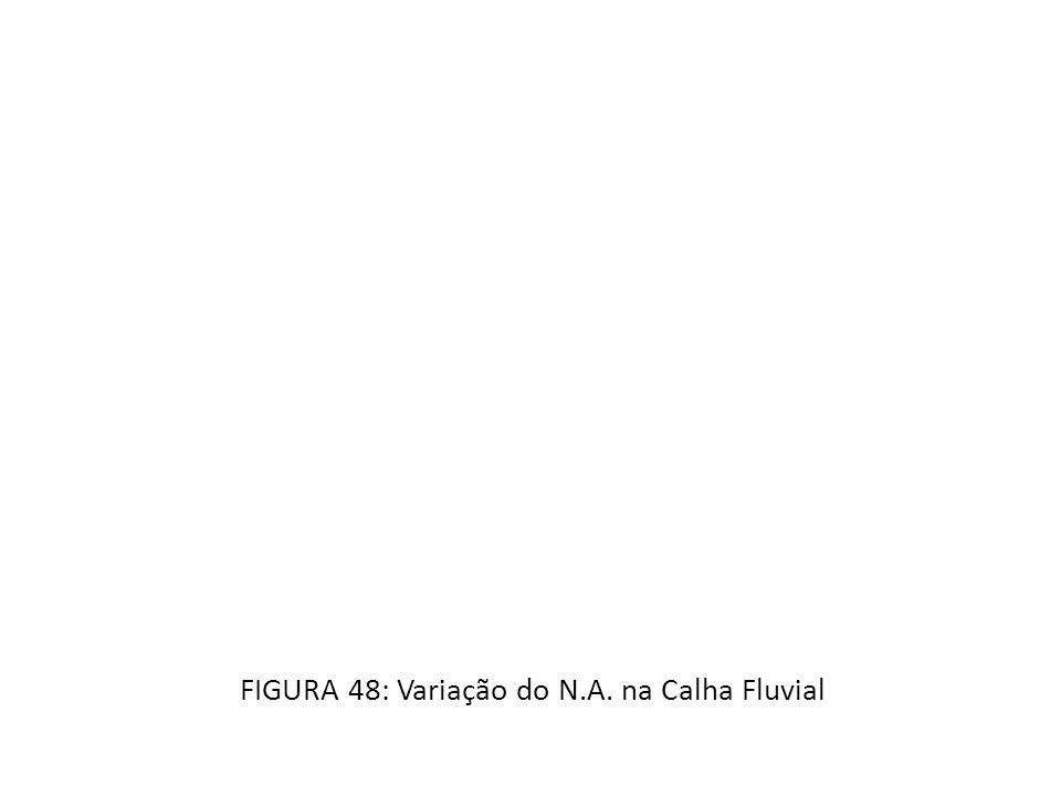 FIGURA 48: Variação do N.A. na Calha Fluvial