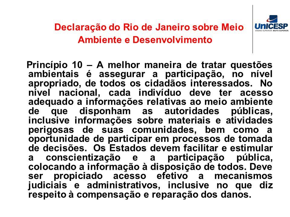 Declaração do Rio de Janeiro sobre Meio Ambiente e Desenvolvimento