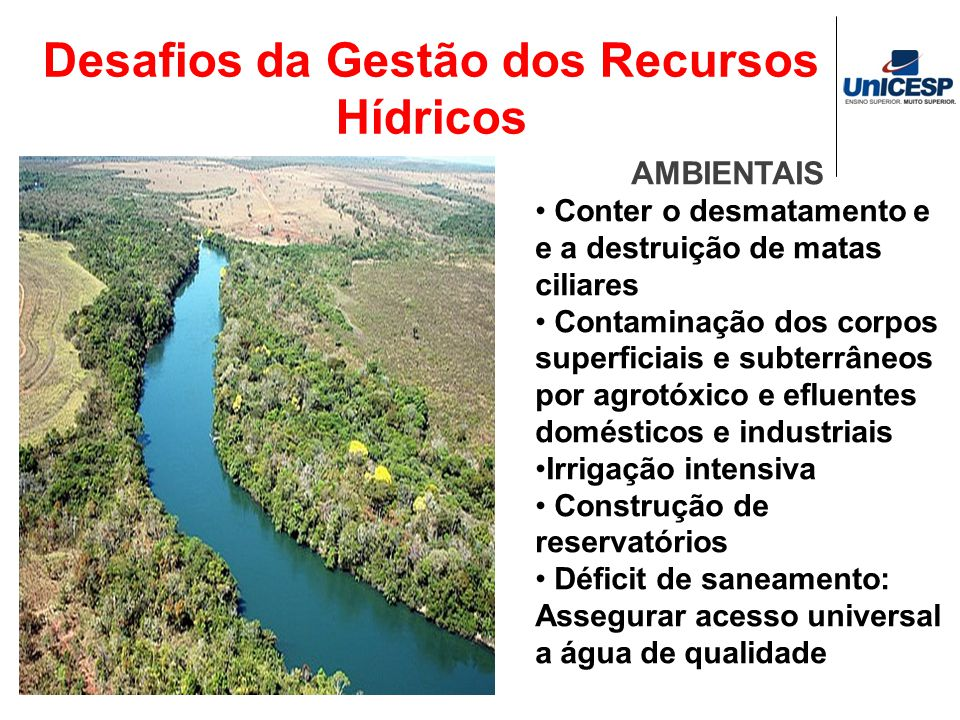 Desafios da Gestão dos Recursos Hídricos