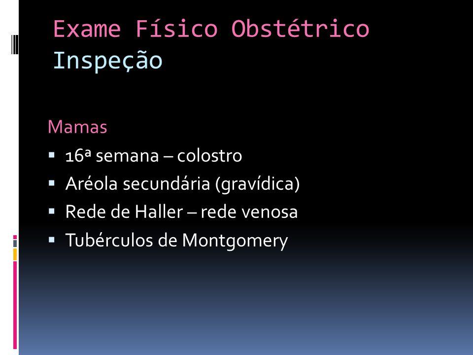 Exame Físico Obstétrico Inspeção