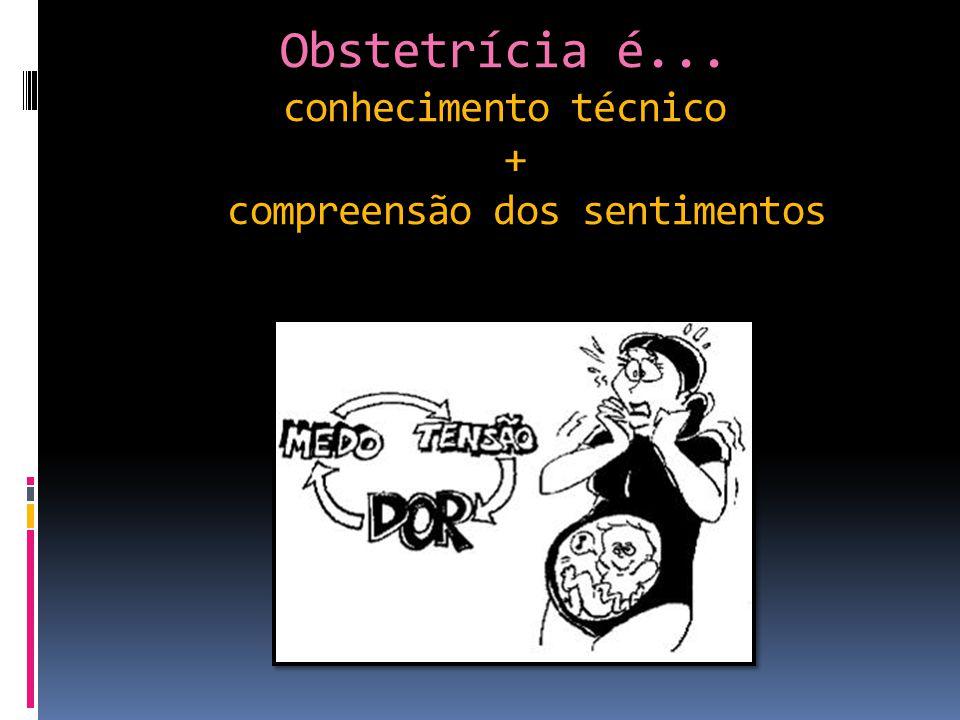 Obstetrícia é... conhecimento técnico + compreensão dos sentimentos