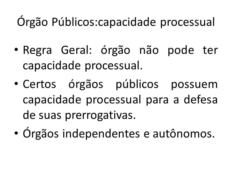 Órgão Públicos:capacidade processual