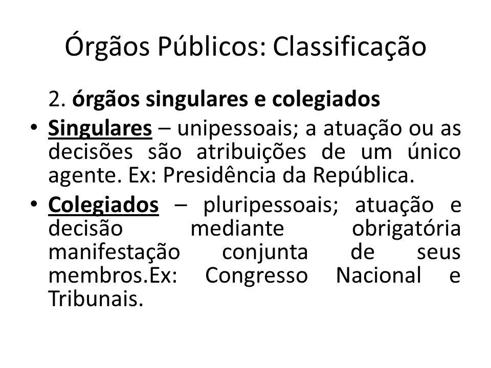 Órgãos Públicos: Classificação