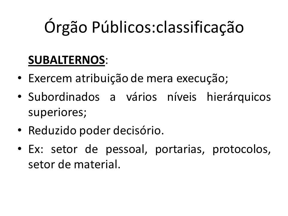 Órgão Públicos:classificação