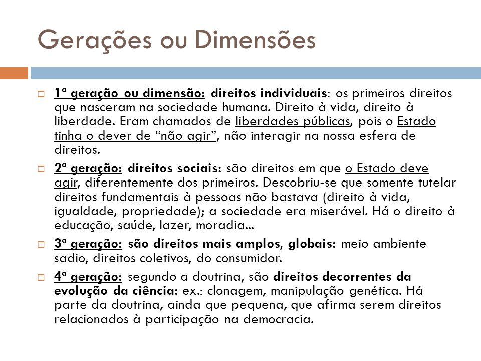 Gerações ou Dimensões