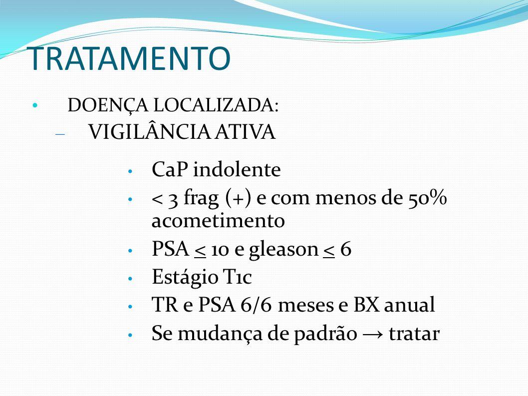 TRATAMENTO VIGILÂNCIA ATIVA CaP indolente