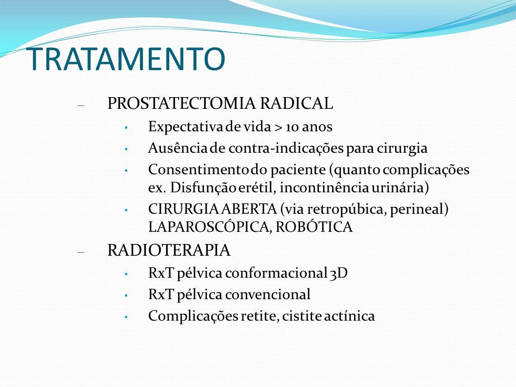 TRATAMENTO PROSTATECTOMIA RADICAL RADIOTERAPIA