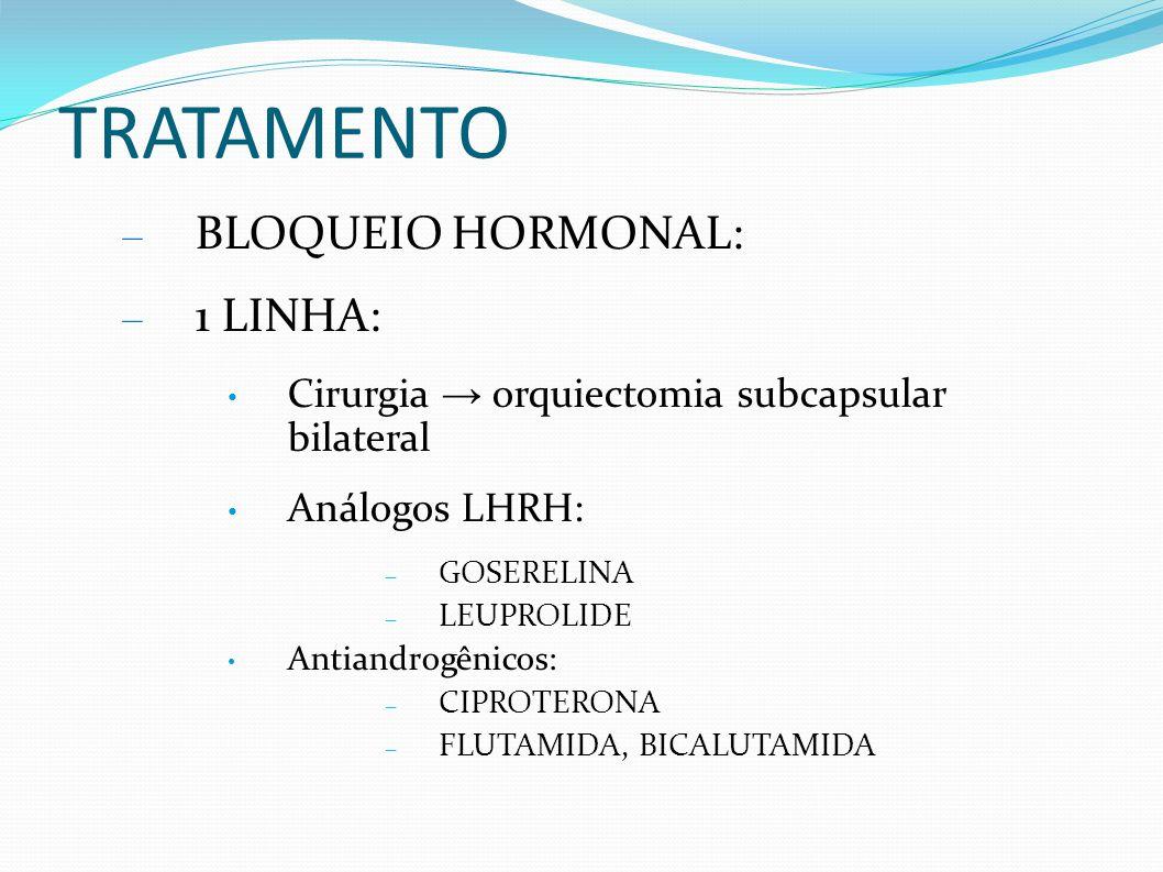 TRATAMENTO BLOQUEIO HORMONAL: 1 LINHA: