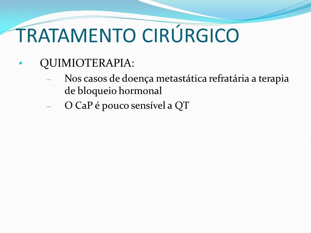 TRATAMENTO CIRÚRGICO QUIMIOTERAPIA:
