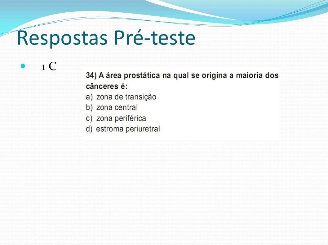 Respostas Pré-teste 1 C