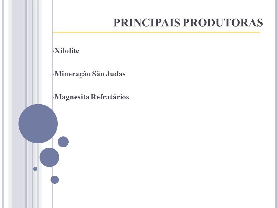 PRINCIPAIS PRODUTORAS