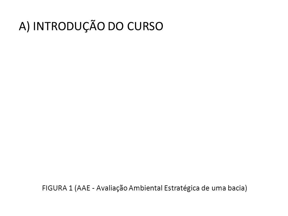 FIGURA 1 (AAE - Avaliação Ambiental Estratégica de uma bacia)