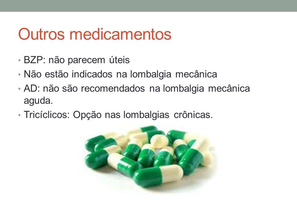 Outros medicamentos BZP: não parecem úteis