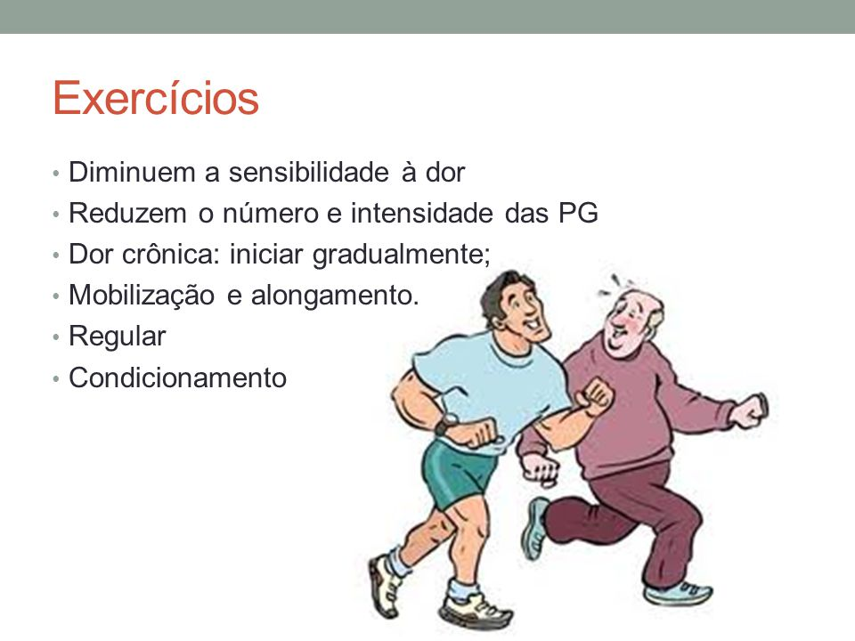 Exercícios Diminuem a sensibilidade à dor