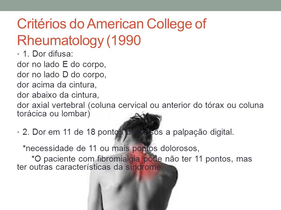 Critérios do American College of Rheumatology (1990