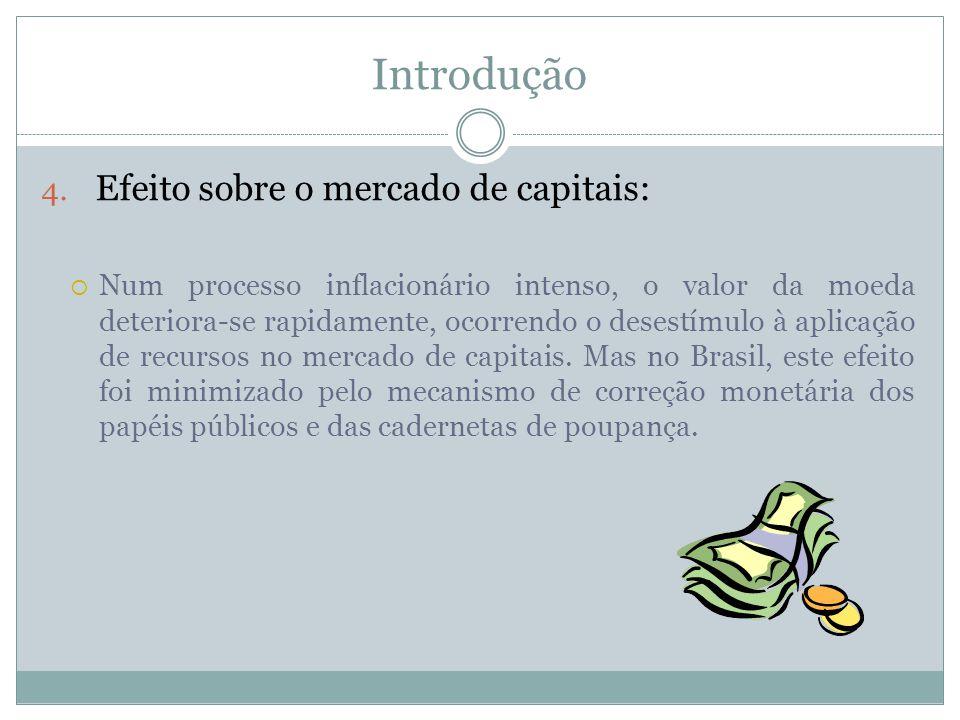 Introdução Efeito sobre o mercado de capitais: