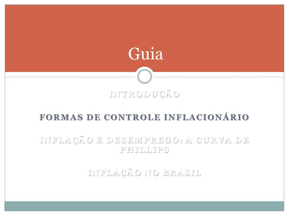 Guia Introdução Formas de controle inflacionário
