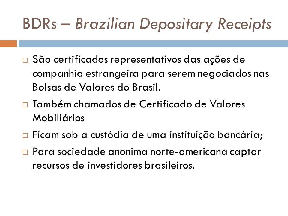 BDRs – Brazilian Depositary Receipts