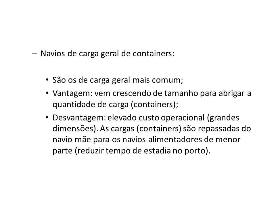 Navios de carga geral de containers: