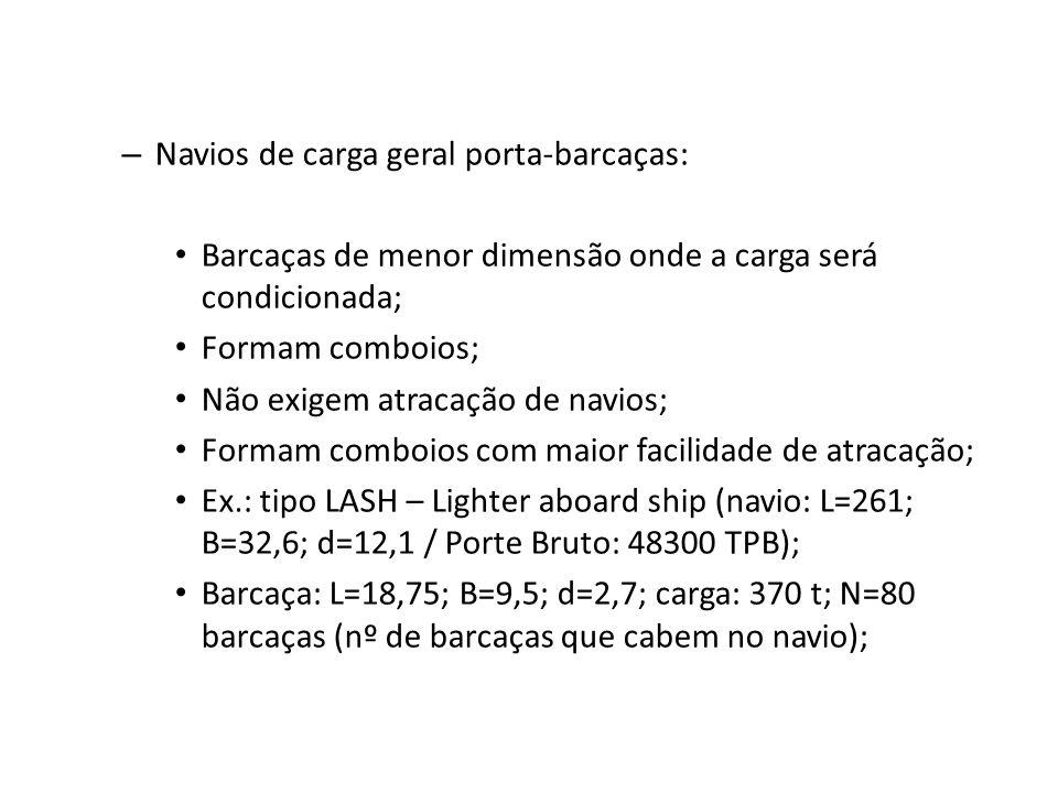 Navios de carga geral porta-barcaças: