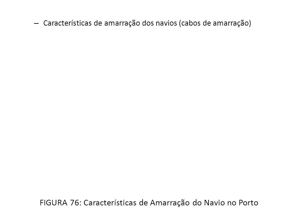 FIGURA 76: Características de Amarração do Navio no Porto