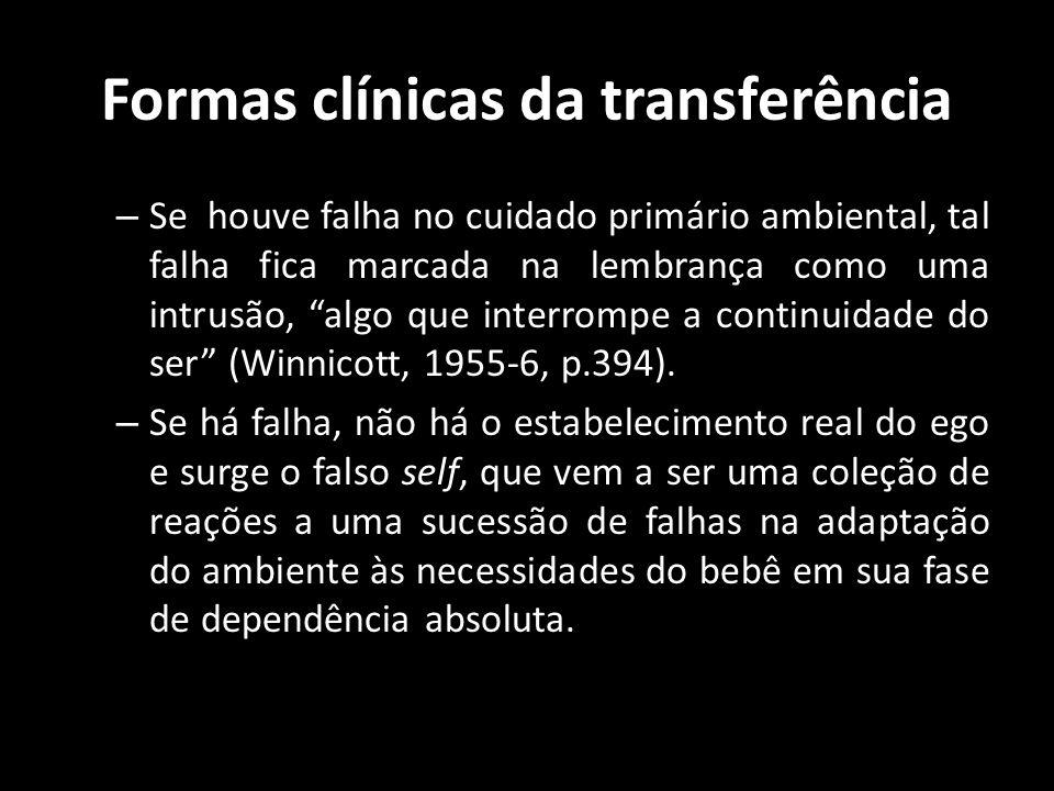 Formas clínicas da transferência