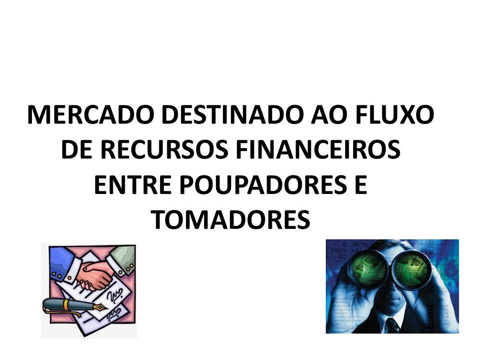 MERCADO DESTINADO AO FLUXO DE RECURSOS FINANCEIROS ENTRE POUPADORES E TOMADORES
