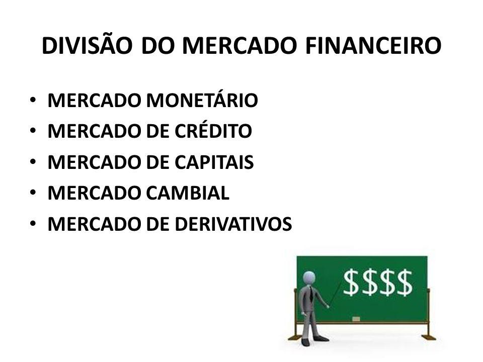 DIVISÃO DO MERCADO FINANCEIRO