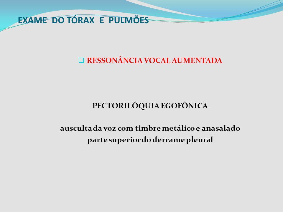 EXAME DO TÓRAX E PULMÕES