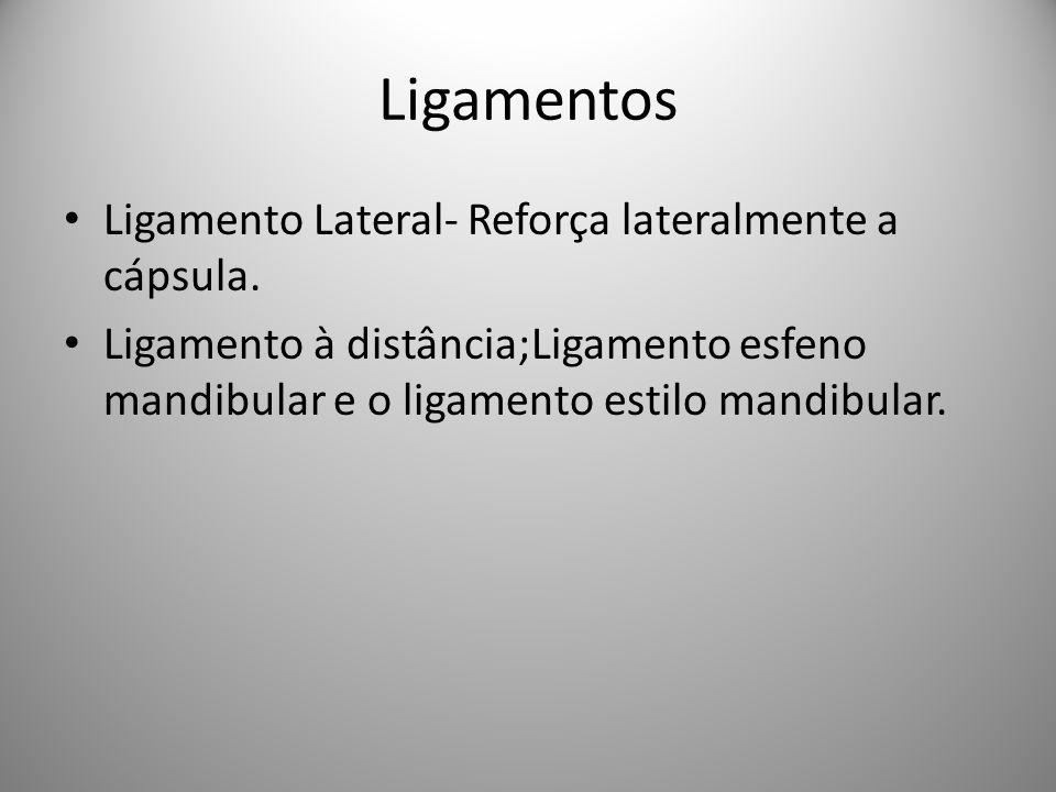 Ligamentos Ligamento Lateral- Reforça lateralmente a cápsula.