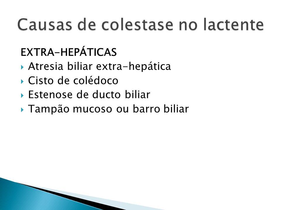Causas de colestase no lactente
