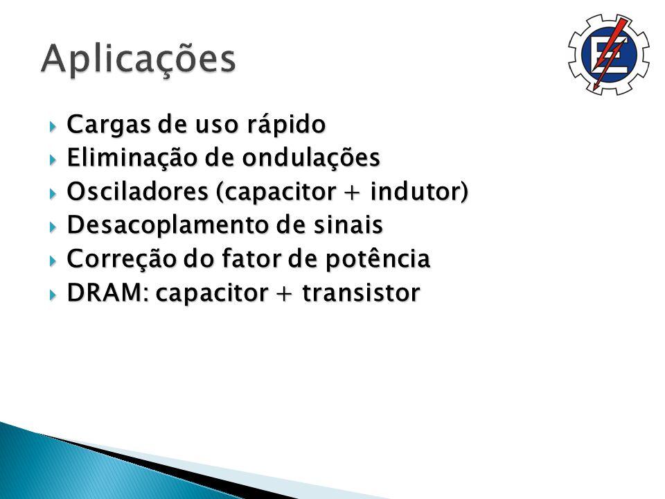 Aplicações Cargas de uso rápido Eliminação de ondulações