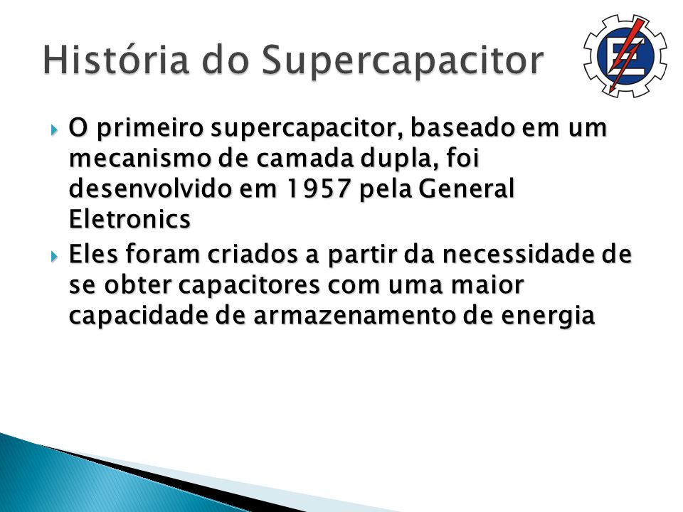 História do Supercapacitor
