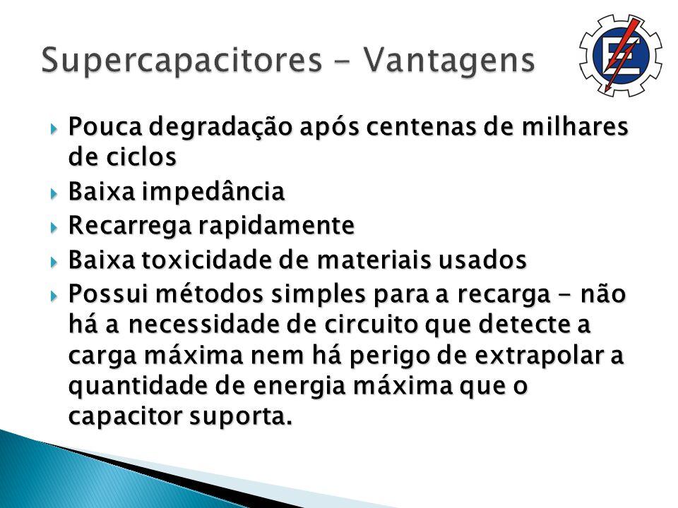 Supercapacitores - Vantagens