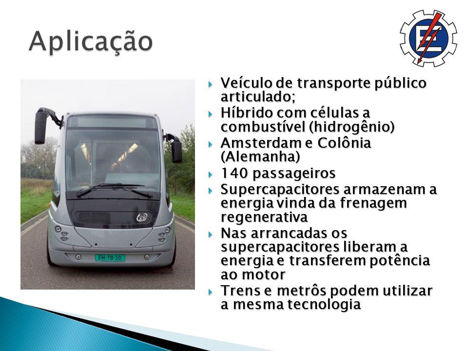 Aplicação Veículo de transporte público articulado;