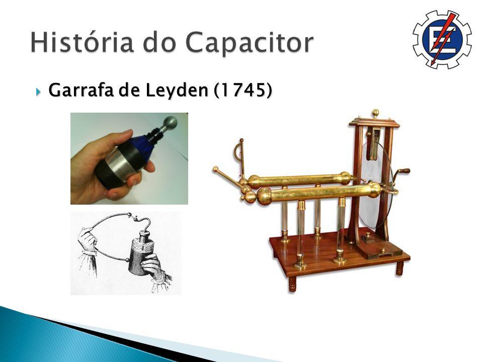 História do Capacitor Garrafa de Leyden (1745)