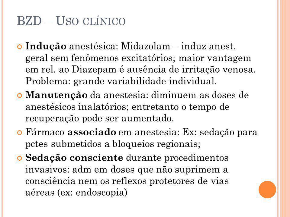 BZD – Uso clínico