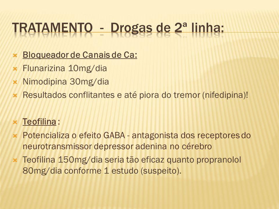 Tratamento - Drogas de 2ª linha: