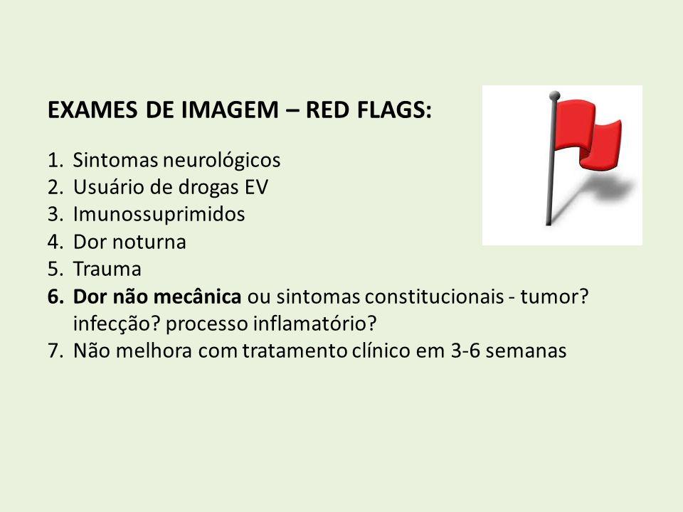 EXAMES DE IMAGEM – RED FLAGS: