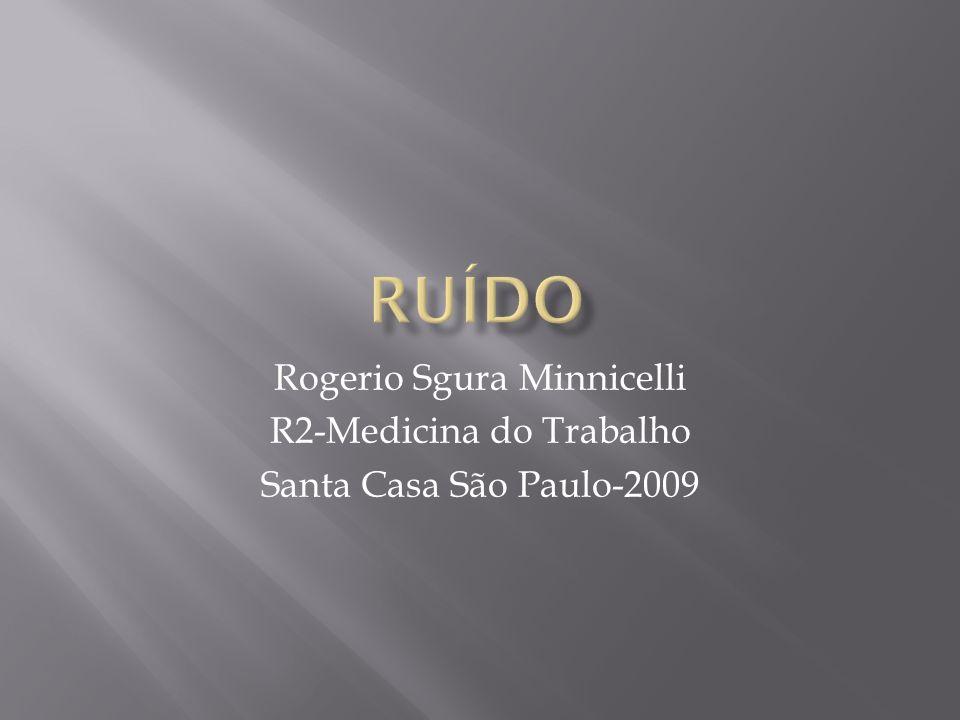 RUÍDO Rogerio Sgura Minnicelli R2-Medicina do Trabalho