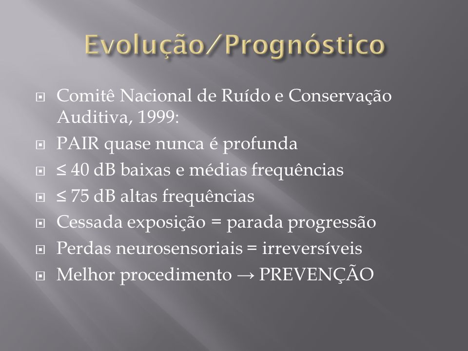 Evolução ∕ Prognóstico