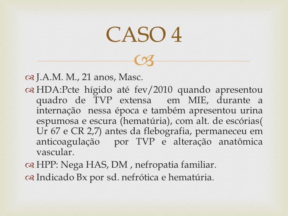 CASO 4 J.A.M. M., 21 anos, Masc.