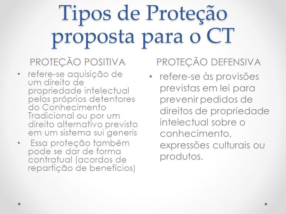 Tipos de Proteção proposta para o CT