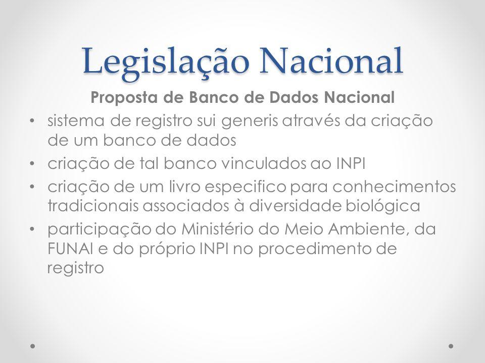 Proposta de Banco de Dados Nacional