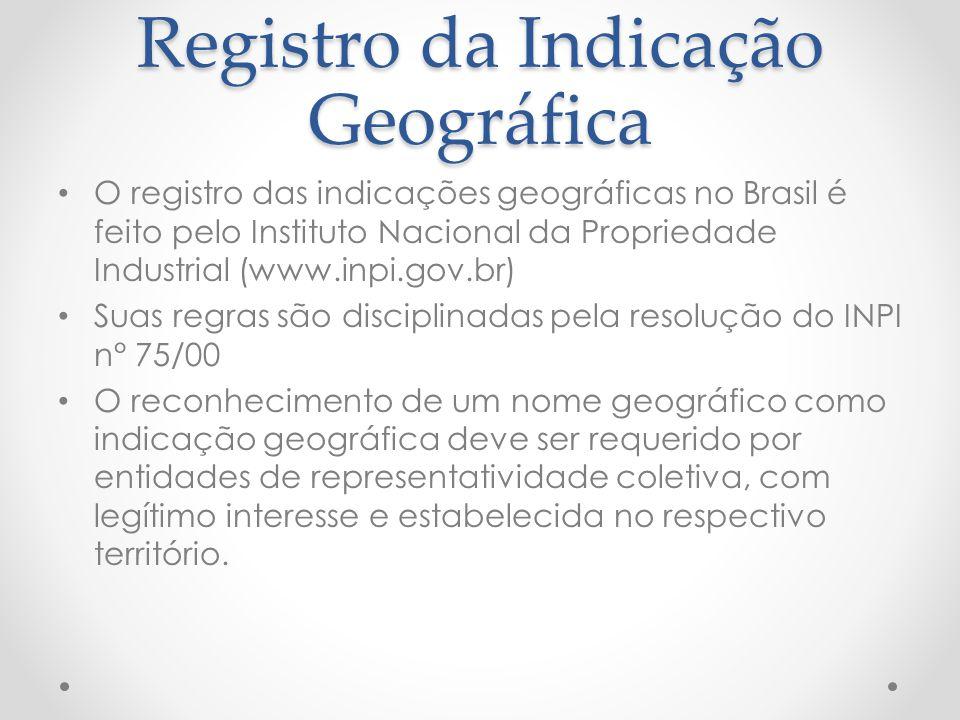 Registro da Indicação Geográfica
